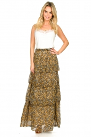 ba&sh |  Printed maxi skirt Sible | brown  | Picture 2
