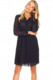 Freebird | Dress with pleads Caily | blue  | Picture 4