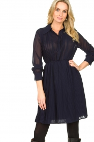 Freebird | Dress with pleads Caily | blue  | Picture 2