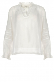 ba&sh |  Laced blouse Stella | white  | Picture 1