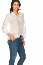 ba&sh |  Laced blouse Stella | white  | Picture 4