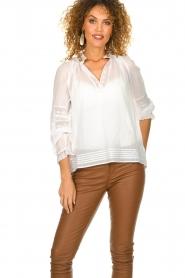 ba&sh |  Laced blouse Stella | white  | Picture 4