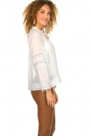 ba&sh |  Laced blouse Stella | white  | Picture 5