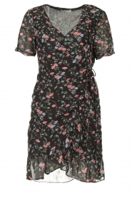 Freebird |  Floral wrap dress Rosy | black  | Picture 1
