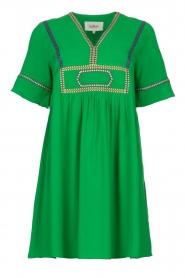 ba&sh |  Midi dress with embroidery Talia | green  | Picture 1