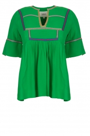 ba&sh |  Embroidered top Taylor | green  | Picture 1