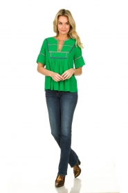 ba&sh |  Embroidered top Taylor | green  | Picture 3