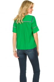 ba&sh |  Embroidered top Taylor | green  | Picture 4