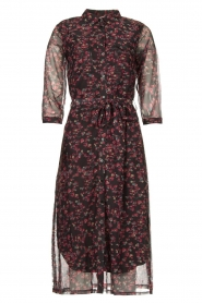 Freebird |  Floral button-up dress Victoria | red  | Picture 1