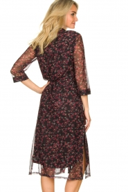 Freebird :  Floral button-up dress Victoria | red - img6