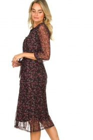 Freebird |  Floral button-up dress Victoria | red  | Picture 5