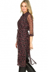 Freebird |  Floral button-up dress Victoria | red  | Picture 6