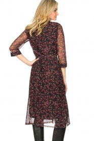 Freebird |  Floral button-up dress Victoria | red  | Picture 7