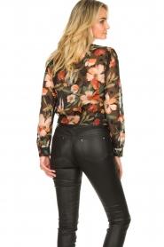 Freebird |  Floral wrap blouse April | black  | Picture 7
