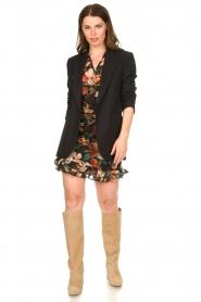 Freebird |  Floral wrap blouse April | black  | Picture 4