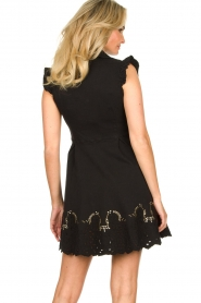 Fracomina |  Dress with embroidery details Yip | black  | Picture 7