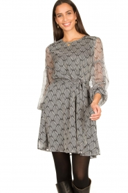 Freebird |  Print dress Celie | black  | Picture 5