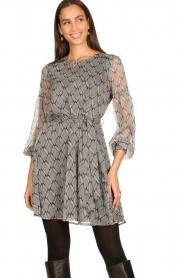 Freebird |  Print dress Celie | black  | Picture 4