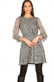 Freebird |  Print dress Celie | black  | Picture 2