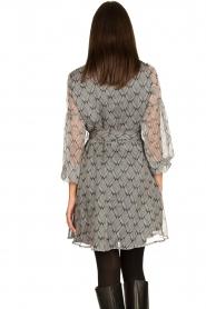 Freebird |  Print dress Celie | black  | Picture 6