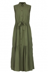 Fracomina |  Sleeveless midi dress Laura | grey  | Picture 1
