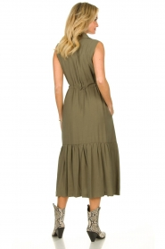 Fracomina |  Sleeveless midi dress Laura | grey  | Picture 5
