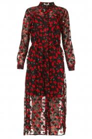 Freebird |  Floral midi dress Helen | black  | Picture 1