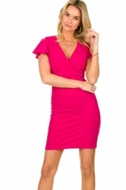 Fracomina |  Dress with open back Daphne | pink  | Picture 2