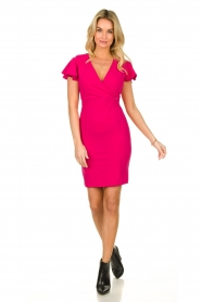 Fracomina |  Dress with open back Daphne | pink  | Picture 3