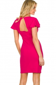 Fracomina |  Dress with open back Daphne | pink  | Picture 5