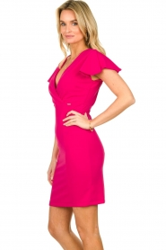 Fracomina |  Dress with open back Daphne | pink  | Picture 4
