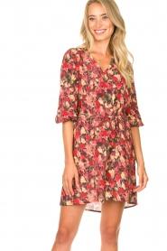 Freebird |  Print dress Irena | red  | Picture 4