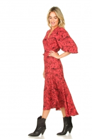 Freebird |  Printed wrap dress Belia | pink  | Picture 5