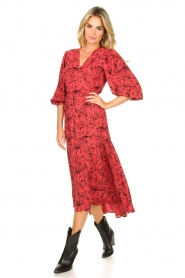 Freebird |  Printed wrap dress Belia | pink  | Picture 2