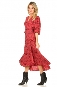 Freebird |  Printed wrap dress Belia | pink  | Picture 4