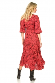 Freebird |  Printed wrap dress Belia | pink  | Picture 6