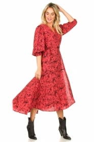 Freebird |  Printed wrap dress Belia | pink  | Picture 3