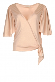 Fracomina |  Top with subtle shimmering Floortje | pink  | Picture 1
