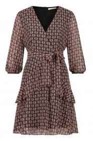 Freebird |  Printed wrap dress Lola | pink  | Picture 1