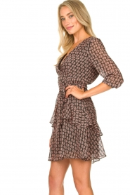 Freebird |  Printed wrap dress Lola | pink  | Picture 4