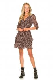 Freebird |  Printed wrap dress Lola | pink  | Picture 3