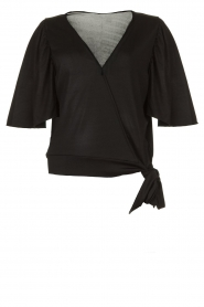 Fracomina |  Top with subtle shimmering Shelly | black  | Picture 1