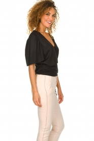Fracomina |  Top with subtle shimmering Shelly | black  | Picture 5