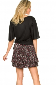 Fracomina |  Top with subtle shimmering Shelly | black  | Picture 6