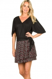 Fracomina |  Top with subtle shimmering Shelly | black  | Picture 4