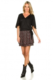 Fracomina |  Top with subtle shimmering Shelly | black  | Picture 3