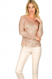 Fracomina |  Sequin top Angelia | nude  | Picture 4