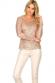 Fracomina |  Sequin top Angelia | nude  | Picture 2
