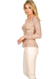 Fracomina |  Sequin top Angelia | nude  | Picture 5
