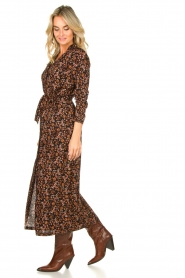 Freebird |  Button down dress with belt Vikas | black  | Picture 5